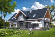 Великолепный проект дома с гаражом на два авто