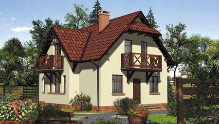 План двухэтажного дома с четырьмя спальнями на втором уровне общей площадью 133 кв. м, жилой 108 кв.м