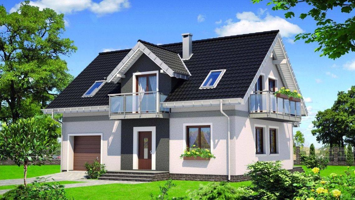 Красивый двухэтажный дом площадью 100м2