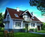 Стильный двухэтажный дом с четырьмя балконами