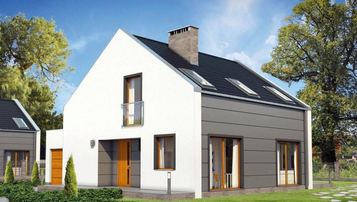 Интересный проект современного двухэтажного дома с гаражом