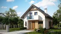 Проект небольшого дома для узкого участка