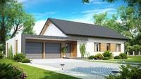 Проект одноэтажного дома с боковым гаражом