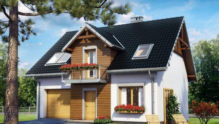 Проект двухэтажного коттеджа с просторными верандами