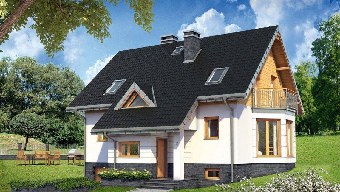 Замечательный проект дома с цокольным этажом