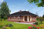 Проект компактного жилого дома с тремя спальнями
