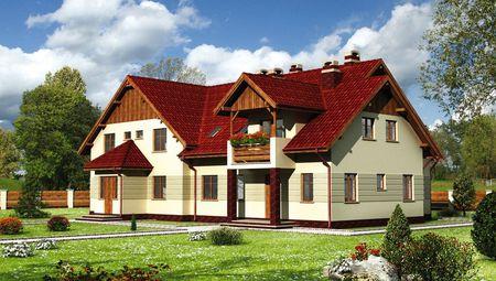 План большого особняка на 390 кв.м для семьи, состоящей из нескольких поколений