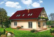 Загородный коттедж с мансардой для небольшой семьи