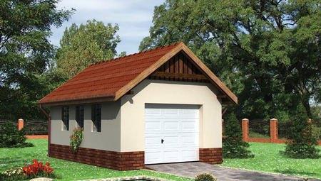 Архитектурный проект гаража 6м на 4м