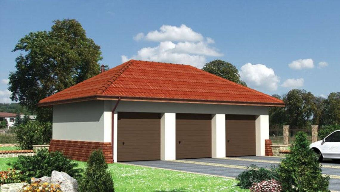 Проект гаража на три автомобиля 6м на 10м