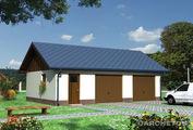 Архитектурный проект гаража для 2-х машин с кладовкой
