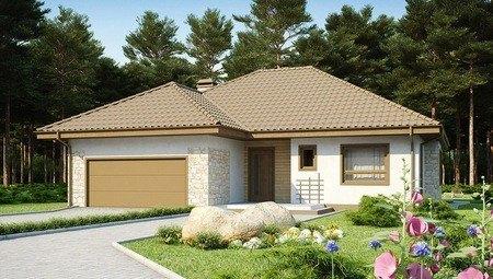 Проект одноэтажного дома с гаражом и мансардой