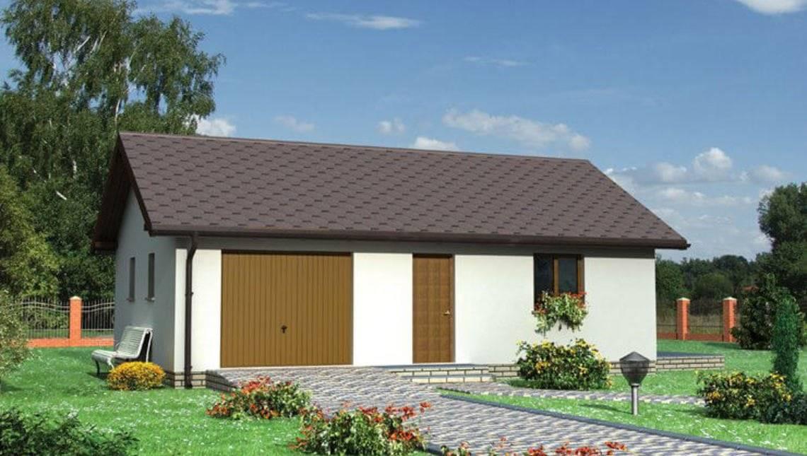 Одноместный гараж с жилищной зоной и санузлом