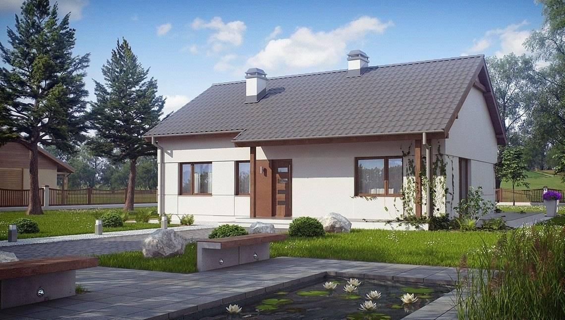 Проект простого одноэтажного дома с чердаком
