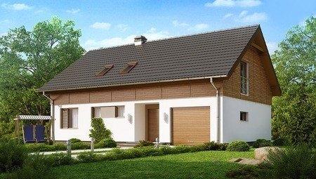 Проект классического дома с гаражом