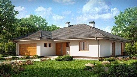 Проект уютного загородного дома с мансардой и гаражом для 2 автомобилей