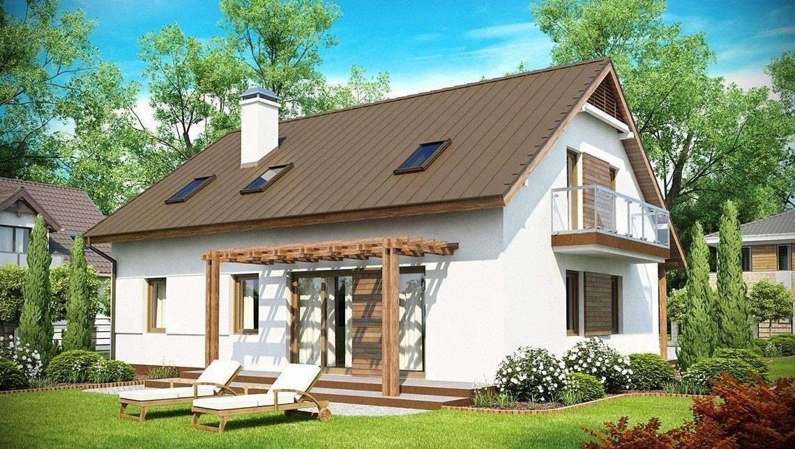 Проект дома с мансардой и с дополнительной спальней