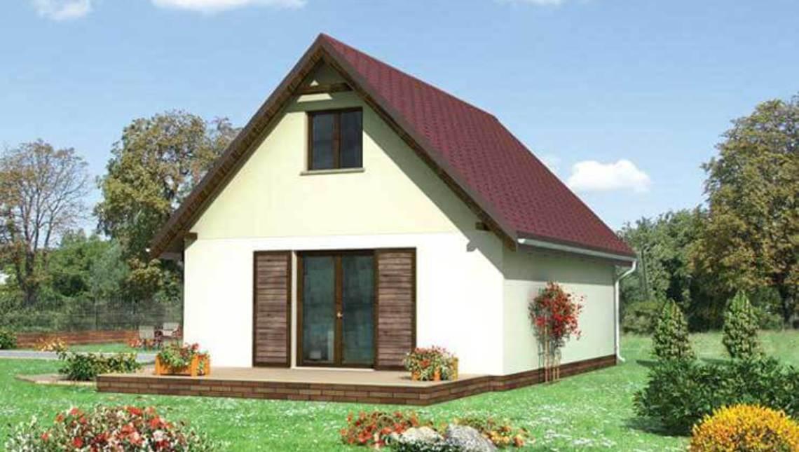 Проект гаража с мансардным жилищным помещением