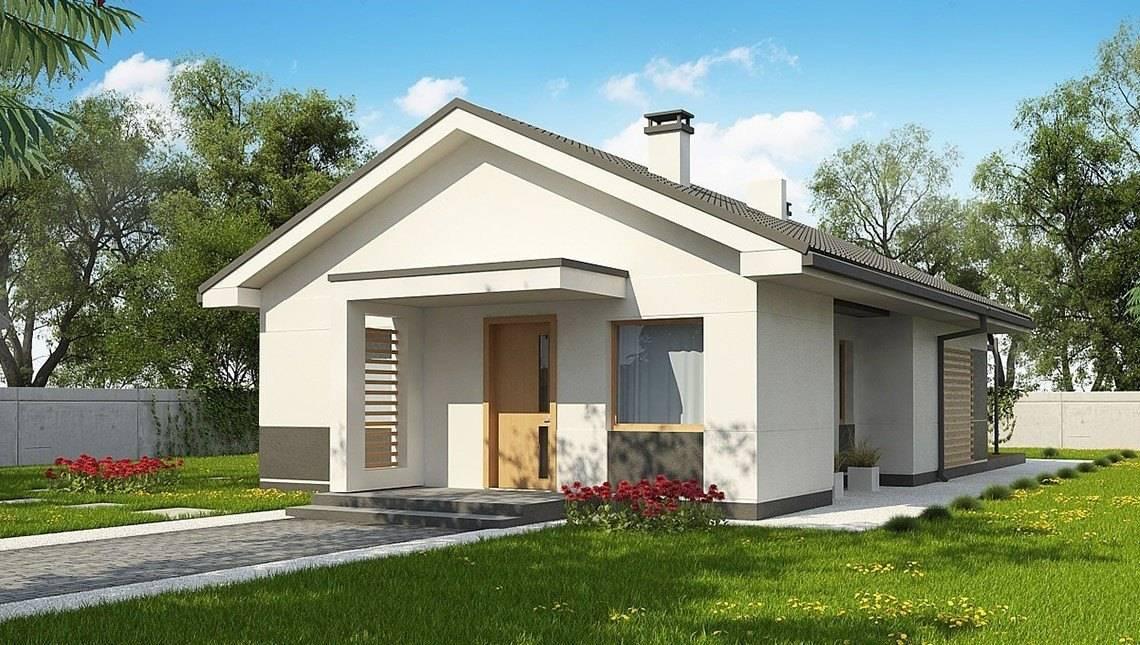 Аккуратный проект небольшого одноэтажного коттеджа