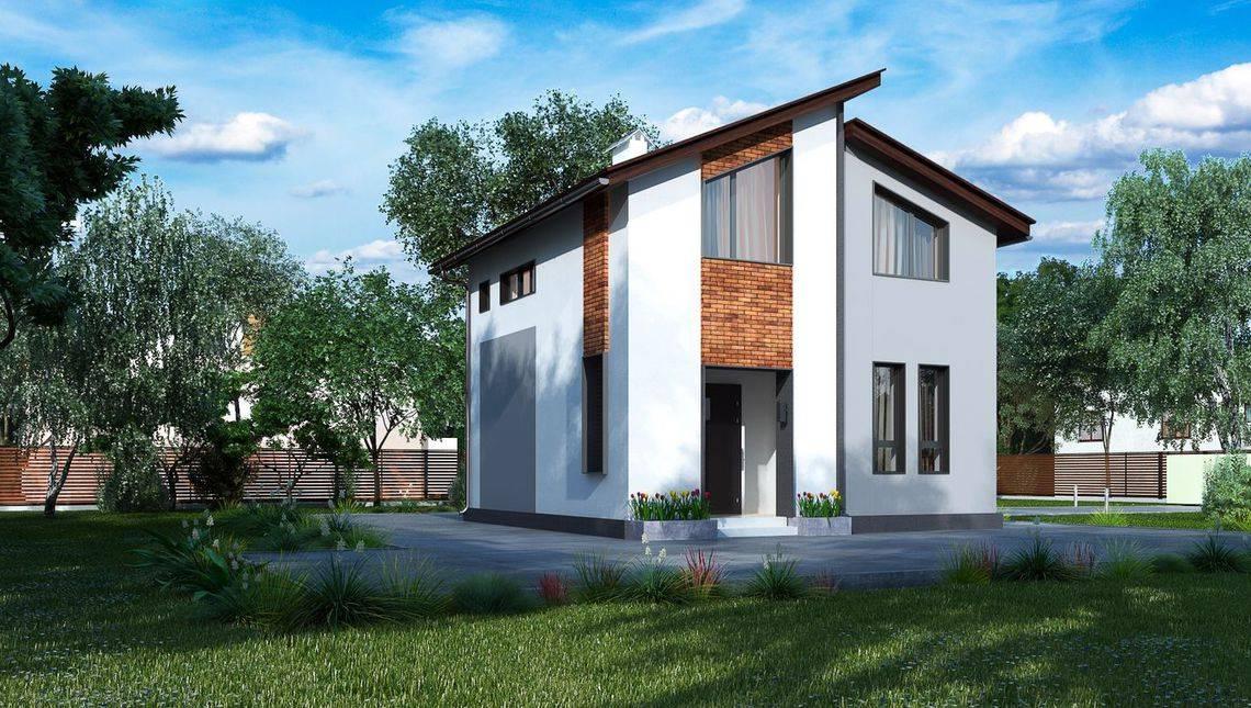 Небольшой двухэтажный дом площадью до 80 m²