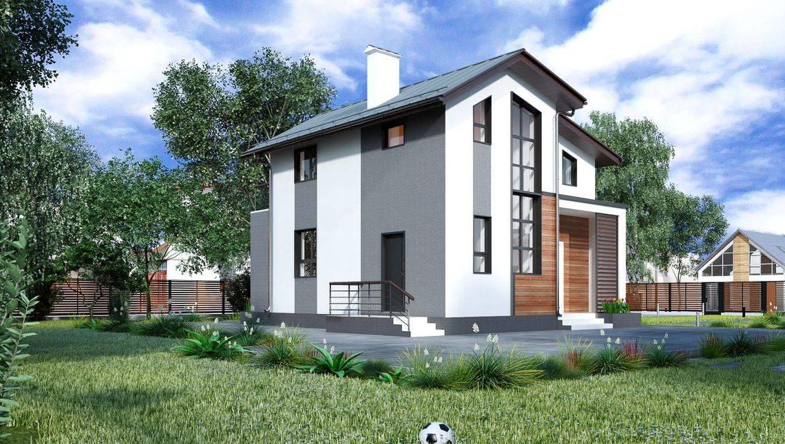 Уютный коттедж площадью до 100м2 с двумя балконами