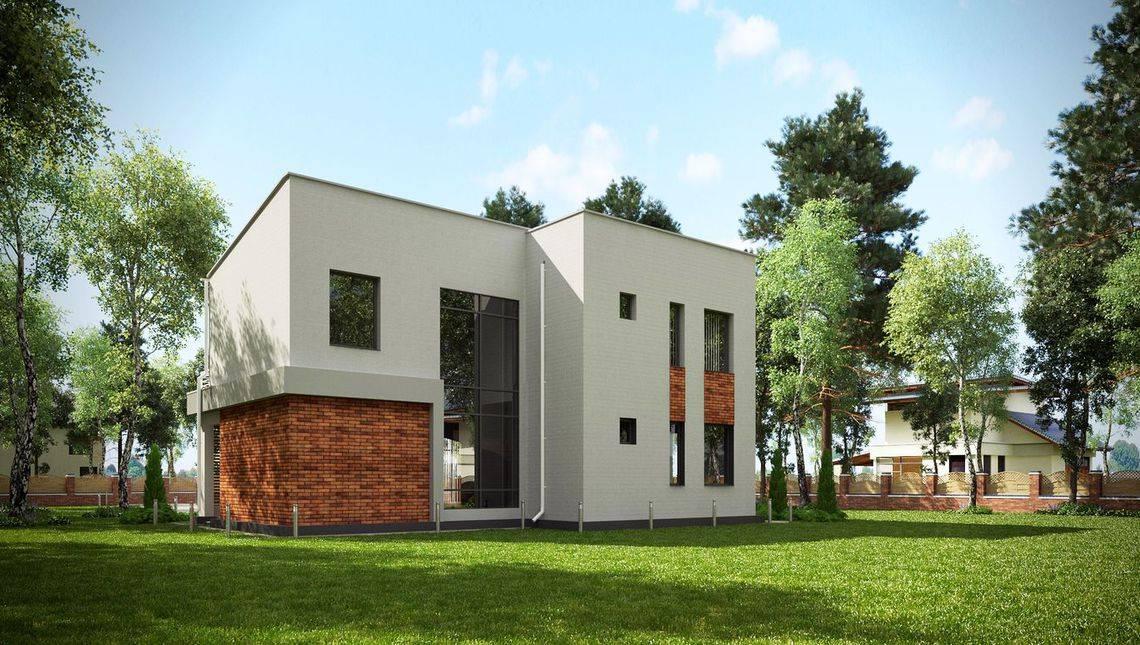 Стильный особняк с просторным балконом и террасой