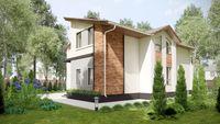План двухэтажного дома с четырьмя спальнями
