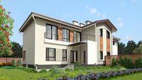 Проект двухэтажного красивого таунхауса с пятью спальнями и тремя санузлами