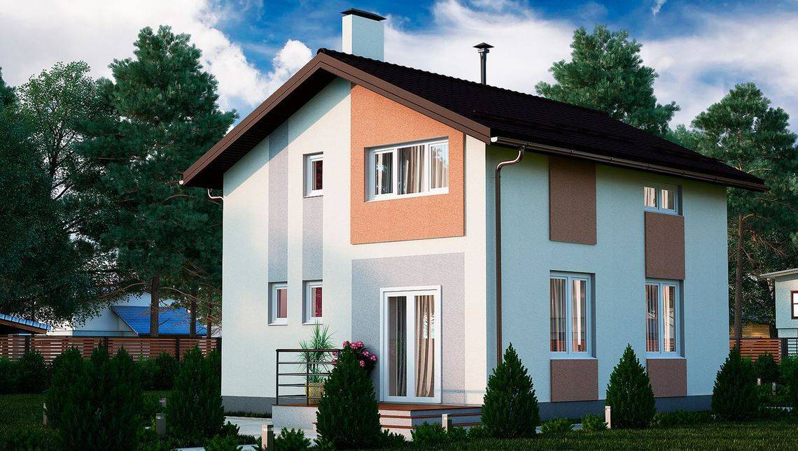 Проект двухэтажного особняка площадью 100 м2
