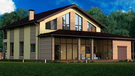 Схема великолепного особняка площадью в 256 кв. м.