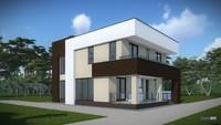 Архитектурный проект ультрасовременного дома на два этажа