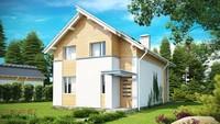Проект двухэтажного энергосберегающего дома для узкого участка