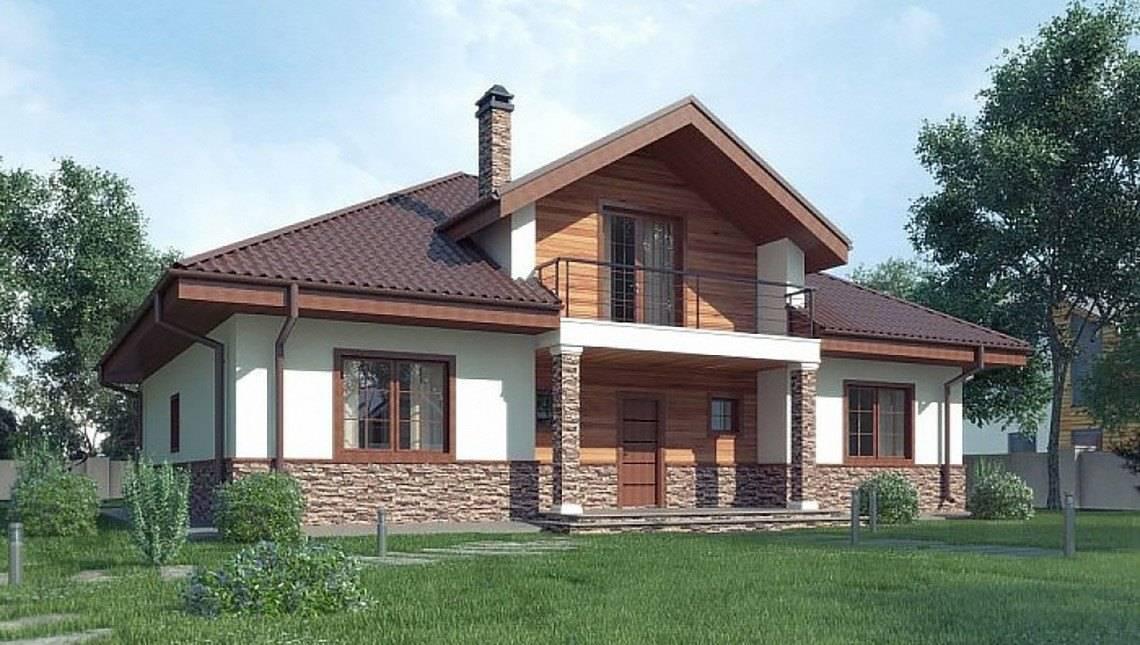 Проект дома с мансардой до 200 m²