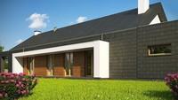 Стильный современный дом для узкого участка