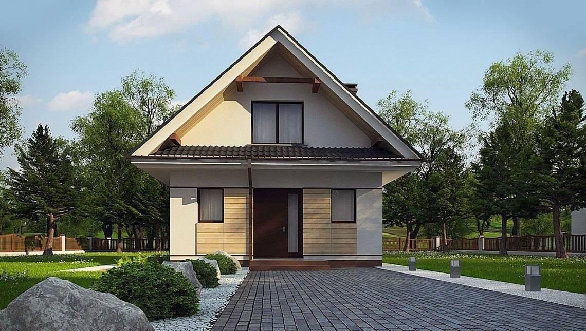 Компактный дом с мансардой 80 m²