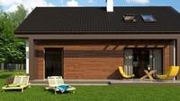 Небольшой мансардный дом для узкого участка