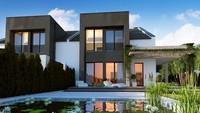 Дом с элементами кубизма в архитектуре