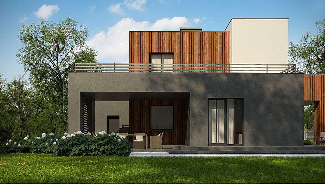 Современный дом с гаражом на 2 машины