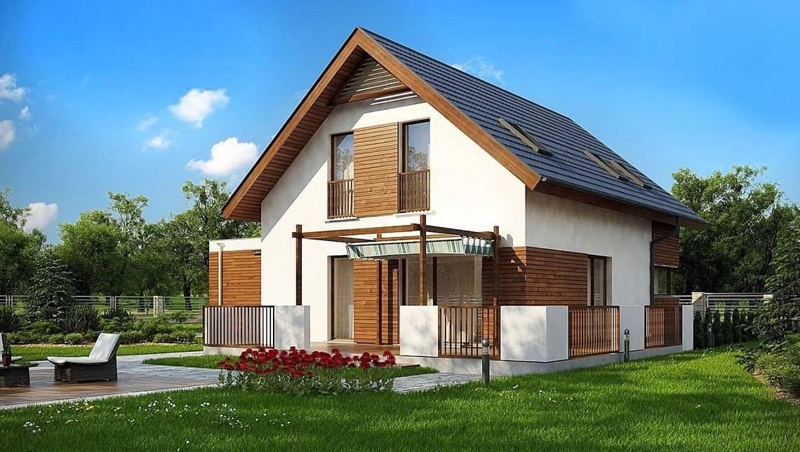 Проект классического двухэтажного дома с гаражом на две машины площадью более 150 m²