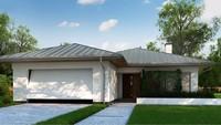 Проект классического одноэтажного дома с гаражом на две машины площадью до 150 m²
