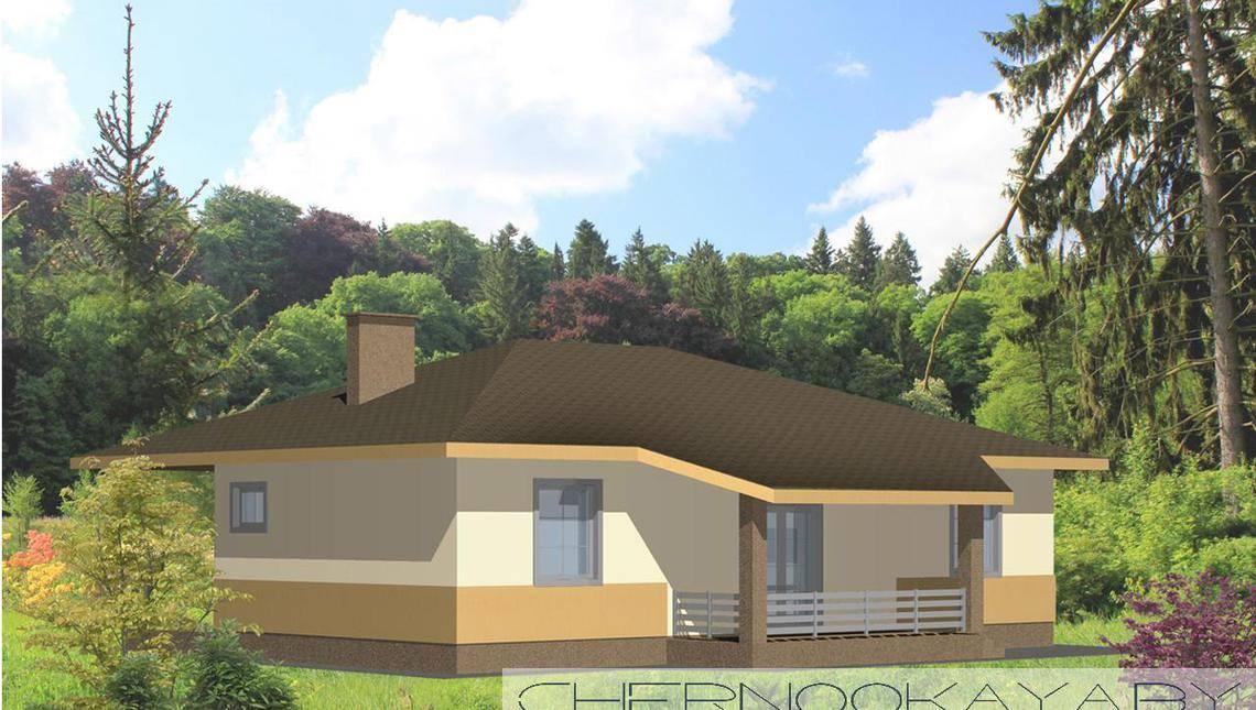 Одноэтажный коттедж с уникальной планировкой