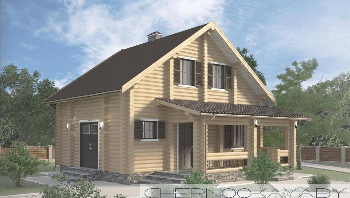 Двухэтажный жилой дом с просторными хоз. помещениями