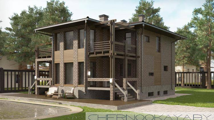 Особняк с просторными балконами необычной планировки