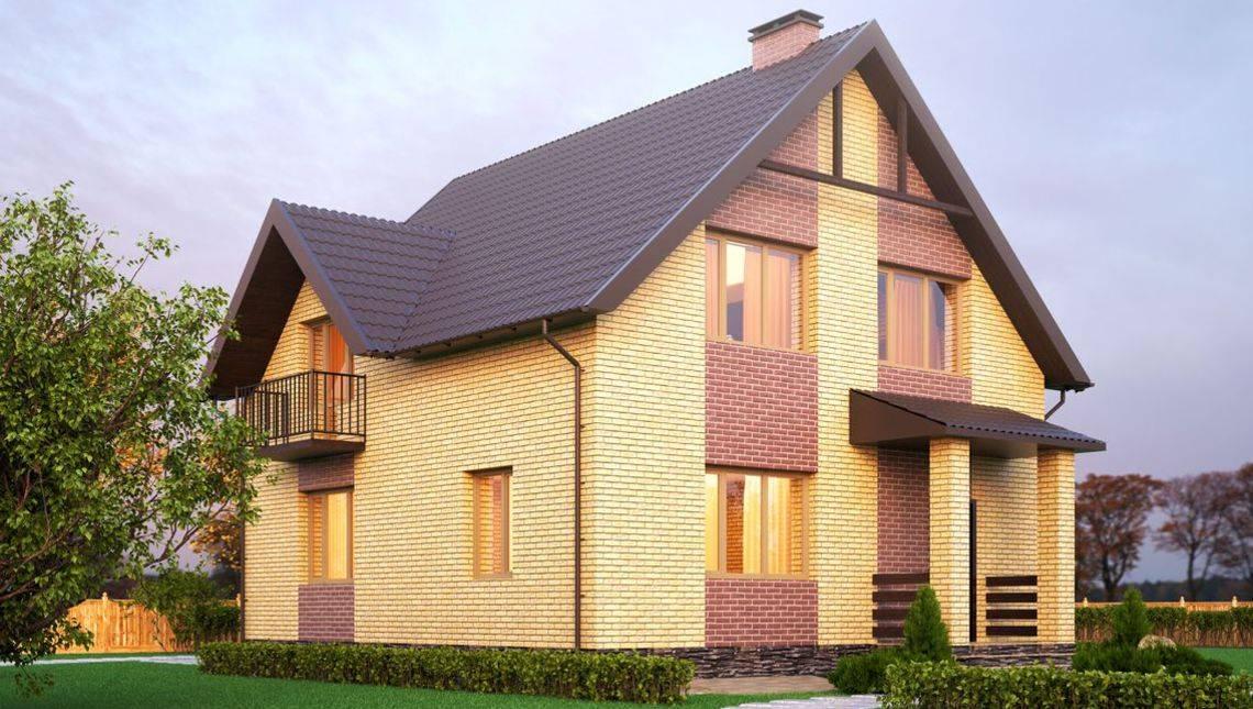 План восхитительного двухэтажного коттеджа на три спальни