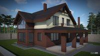 Архитектурный проект кирпичного дома с погребом