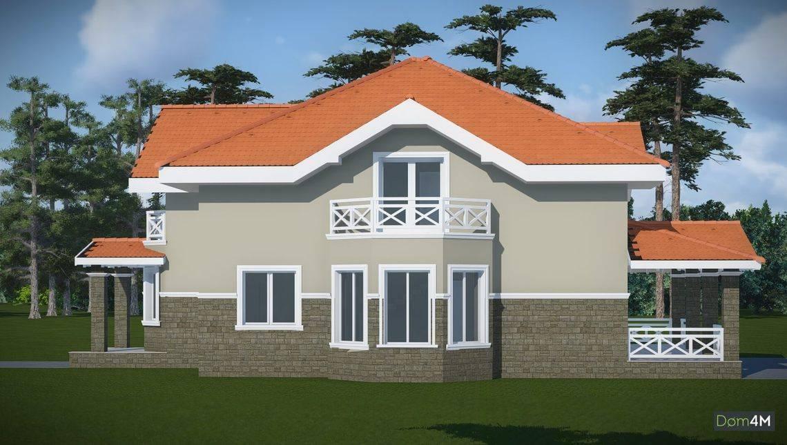 Проект особняка с гаражом и удобными спальнями