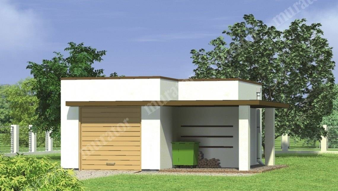 Проект интересного гаража на 1 авто
