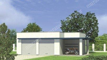 Проект современного гаража на 2 авто