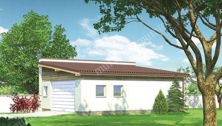 Проект гаража на две машины с односкатной крышей