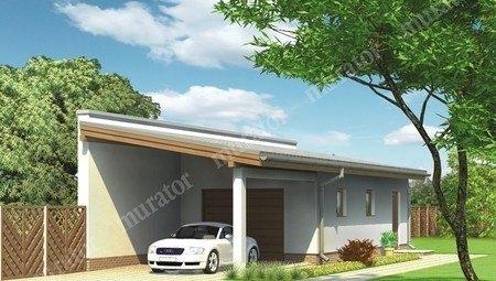 Проект гаража с навесом и автомастерской